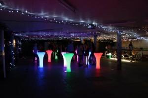 Neon poseur tables